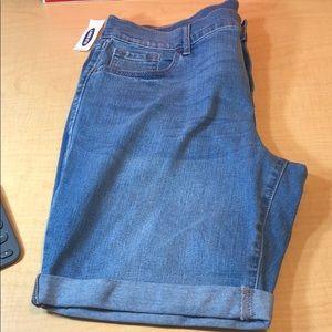 NWT old Navy stretch denim blue jean shorts